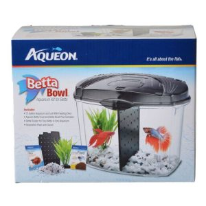 Aqueon Betta Bowl Starter Kit - Black
