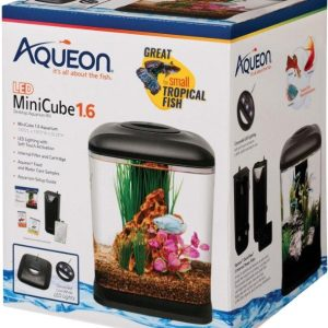 Aqueon Mini Cube LED Aquarium Kit - Black
