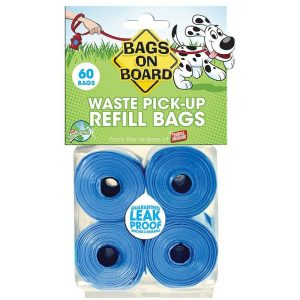 Bags on Board Waste Pick Up Refill Bags - Blue