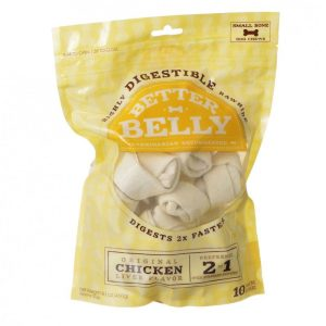 Better Belly Rawhide Chicken Liver Bones - Small