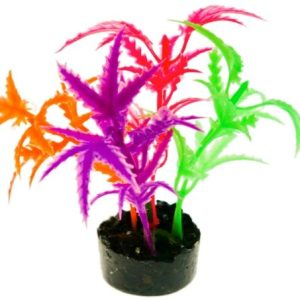 Blue Ribbon Colorburst Florals Multi-colored Jagged Sword Aquarium Decor