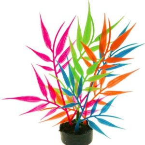 Blue Ribbon Colorburst Florals Multi-colored Needle Leaf Aquarium Decor