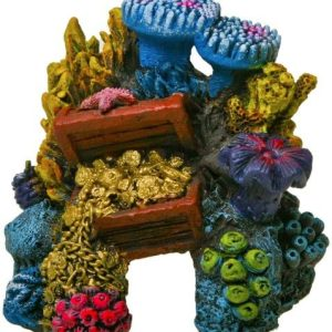 Blue Ribbon Exotic Environments Lost Treasure Reef Aquarium Ornament