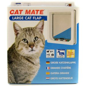 Cat Mate 4-Way Locking Self Lining Door-Large Cat Small Dog