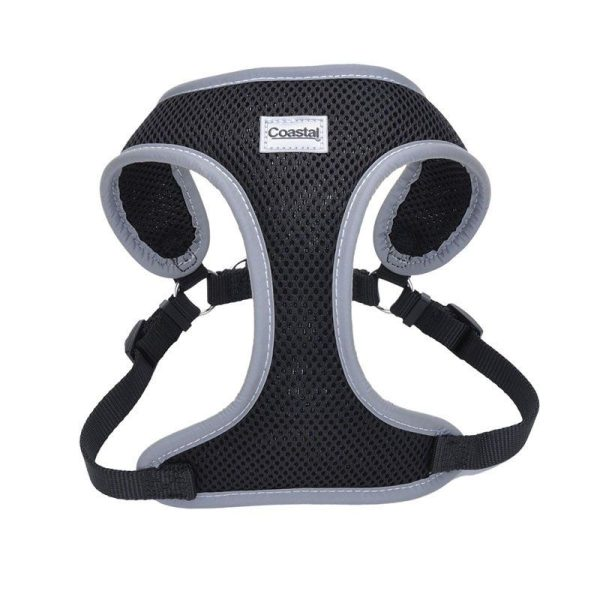Coastal Pet Comfort Soft Reflective Wrap Adjustable Dog Harness - Black