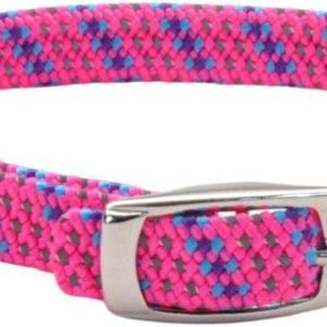 Coastal Pet Elastacat Reflective Safety Collar with Charm Pink