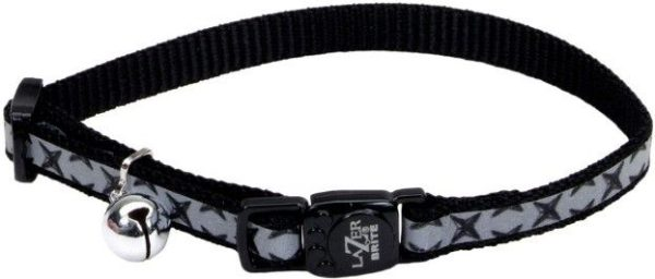 Coastal Pet Lazerbrite Reflective Breakaway Cat Collar Black Diamond