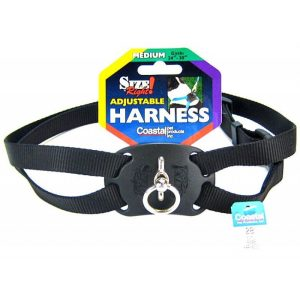 Coastal Pet Size Right Nylon Adjustable Harness - Black