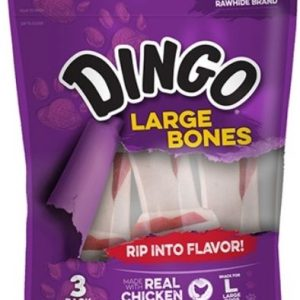 Dingo Meat in the Middle Rawhide Chew Bones