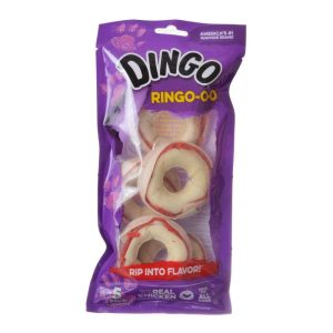 Dingo Ringo Meat & Rawhide Chews (No China Sourced Ingredients)