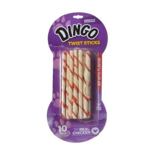 Dingo Twist Sticks Rawhide Chew with Chicken in the Middle