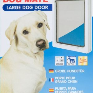 Dog Mate Multi Insulation Dog Door - White