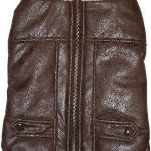 Fashion Pet Brown Bomber Dog Jacket