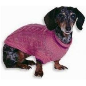 Fashion Pet Cable Knit Dog Sweater - Pink