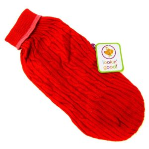 Fashion Pet Cable Knit Dog Sweater - Red
