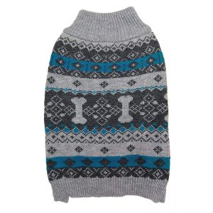 Fashion Pet Nordic Knit Dog Sweater - Gray