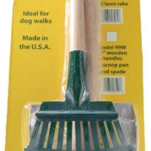 Flexrake Scoop and Steel Rake Set with Wood Handle - Small