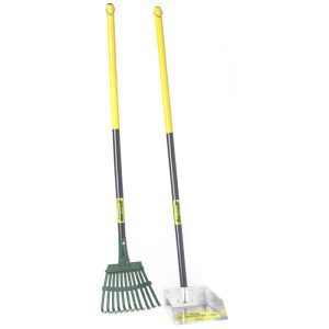 Flexrake The Scoop - Poop Scoop & Steel Rake with  Wood Handle