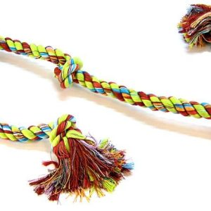 Flossy Chews Colored 5 Knot Tug Rope