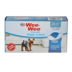 Four Paws Wee Wee Diaper Garment Pads