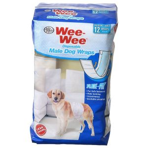Four Paws Wee Wee Disposable Male Dog Wraps