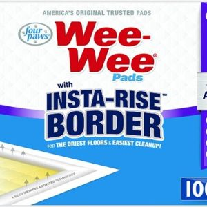 Four Paws Wee Wee Insta Rise Border Quilted Pads - 23 x24