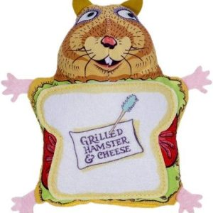 Fuzzu Grilled Hamster/Cheese Cat Toy