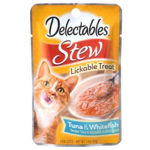 Hartz Delectables Stew Lickable Cat Treats - Tuna & Whitefish