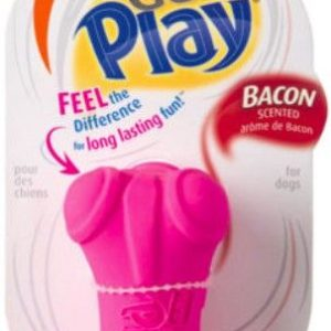 Hartz Dura Play Bacon Scented Dental Dog Bone Chew Toy - Assorted Colors