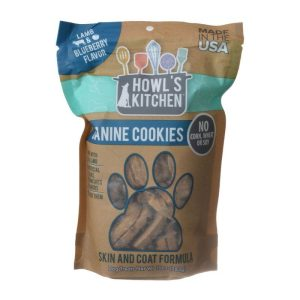 Howl's Kitchen Canine Cookies Skin & Coat Formula - Lamb & Blueberry Flavor