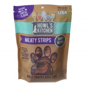 Howl's Kitchen Meaty Strips Soft Bites - Bacon & Cheese Flavor