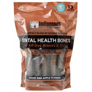 Indigenous Dental Health Bones - Duck & Apple Flavor