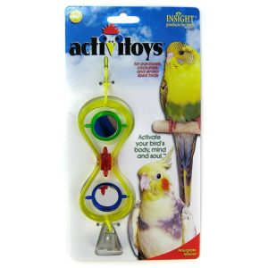 JW Insight Hour Glass Mirrors Bird Toy