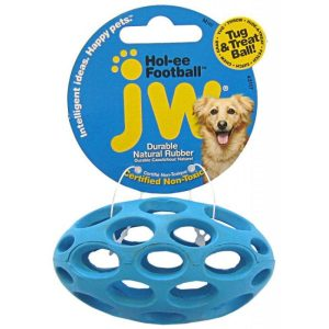 JW Pet Hol-ee Football Rubber Dog Toy
