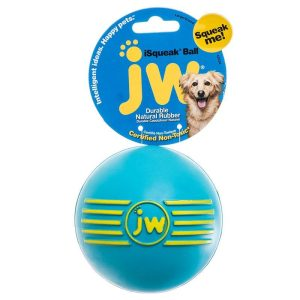 JW Pet iSqueak Ball - Rubber Dog Toy