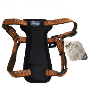 K9 Explorer Reflective Adjustable Padded Dog Harness - Campfire Orange