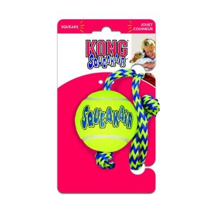 Kong Squeakers Tennis Ball with Rope