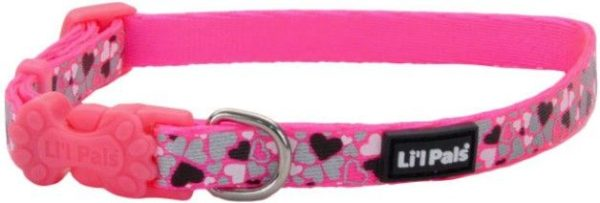 Li'L Pals Reflective Collar - Pink with Hearts