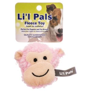 Lil Pals Fleece Monkey Dog Toy