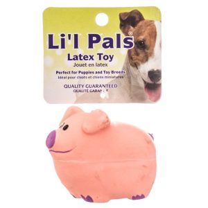 Lil Pals Latex Pig Dog Toy