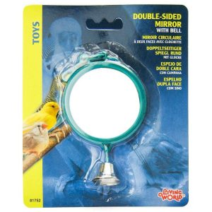 Living World Double Sided Mirror with Bell Bird Toy