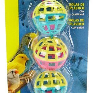 Living World Plastic Balls with Bells Bird Toy