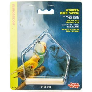 Living World Wood Perch Bird Swings