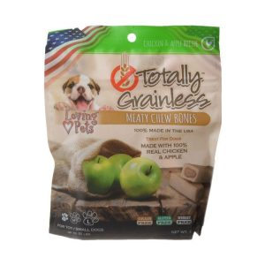 Loving Pets Totally Grainless Meaty Chew Bones - Chicken & Apple