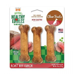 Nylabone Healthy Edibles Wholesome Dog Chews - Roast Beef Flavor