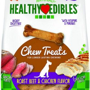 Nylabone Natural Healthy Edibles Variety Pack - Roast Beef & Chicken
