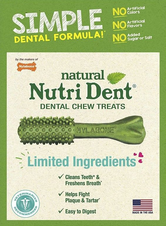Nylabone Nutri Dent Natural Dental Chew Treats - Fresh Breath