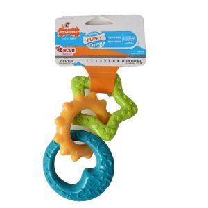 Nylabone Puppy Teething Rings - Bacon Flavor