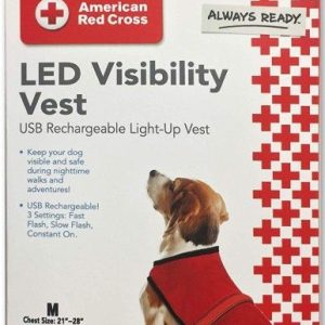 Penn-Plax American Red Cross Light Up Safety Visibility Vest
