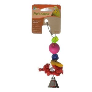 Penn Plax Bird Life Fruit-Kabob Wood Parakeet Toy
